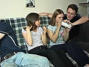 College teen sex party - group sex tube